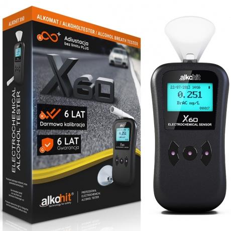 ALKOHIT X60 BEZ USTNIKOWY do 6 lat gwarancji* pomiar bez ustnika